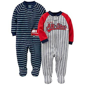 Simple Joys by Carter's Baby Boys' 2-Pack Cotton Footed Sleep and Play, All S...