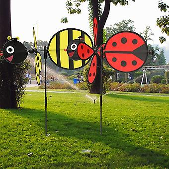 Bumble Bee / mariehøne Design Wind Spinner For Home Yard og Have Decor