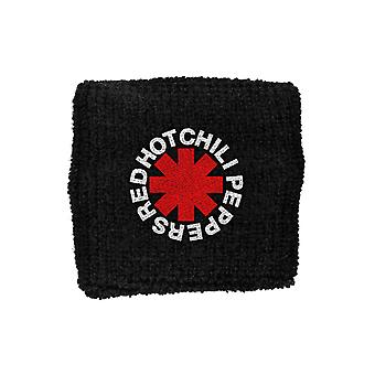 Red Hot Chili Peppers Sweatband Asterisk Band Logo new Official Black
