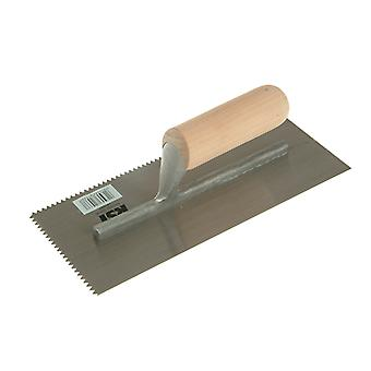 R.S.T. Notched Trowel 5mm V Notches Wooden Handle 11 x 4.1/2in RST153DT