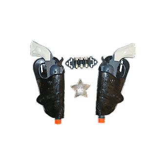 Kids Cowboy Costume Gun Sheriff Badge And Holster Fancy Dress Accessory Kit