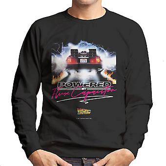 Back to the Future Delorean Powered By Flux Capacitor Men's Sweatshirt