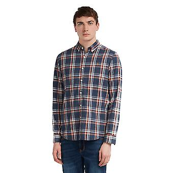 Camisa Farah Steen Check - Navy
