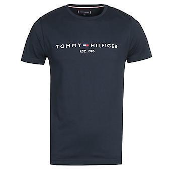 トミー ヒルフィガー ロゴ ネイビー Tシャツ