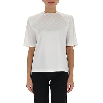 Attico 202wct04v013001 Damen's Weiße Viskose T-shirt