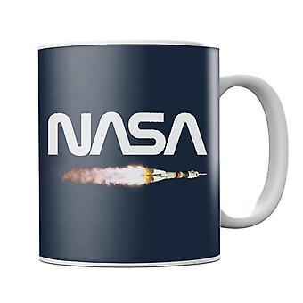 NASA Soyuz Launch Logo Mug
