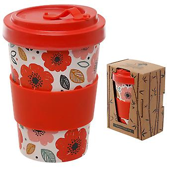 Bamboo Composite Poppy Fields Screw Top Travel Mug X 1 Pack