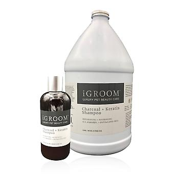 iGroom Charcoal + Keratin Detoxifying and & Nourishing Pet Shampoo