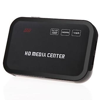 Full Hd 1080p Center Rm/rmvb/avi/mpeg Multi Media Video Player With Hdmi Vga Av Usb Sd/mmc Port Remote Control