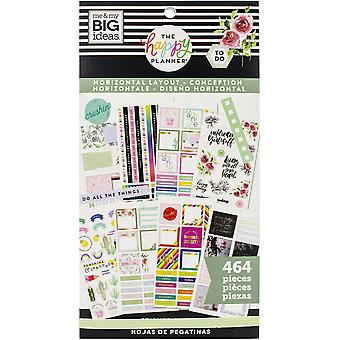 Happy Planner Sticker Value Pack-Horizontal, 464/Pkg