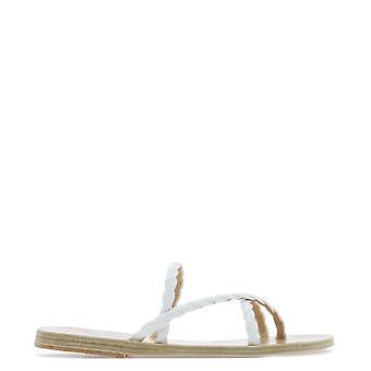 Sandales grecques antiques Mahivachettacoyleatherwhite Women's Sandales en cuir blanc