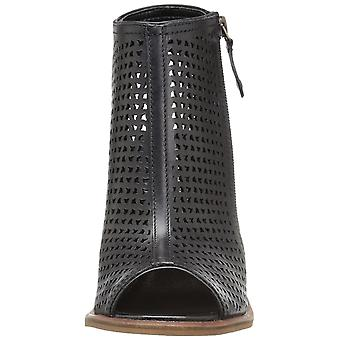 Kelsi Dagger Womens Mason Leather Peep Toe Ankle Fashion Boots