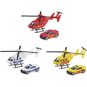 Teamsterz Beredskap Helikopter & Bil Leker Sortiment