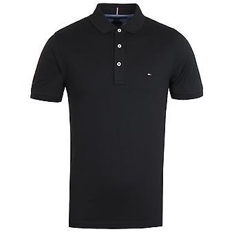 Tommy Hilfiger Slim Fit Tommy Black Polo Shirt