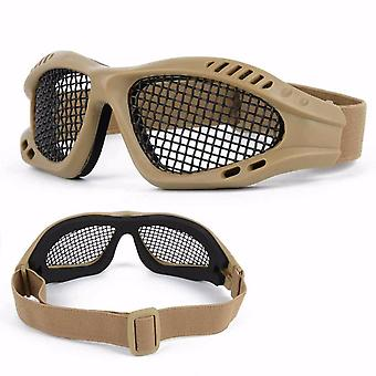 Hunting Tactical Paintball Goggles- Eyewear Steel Wire Mesh Airsoft Net