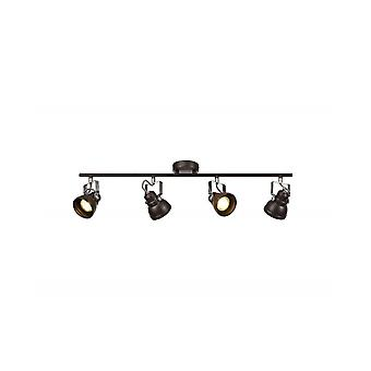 Doyle Justerbar Bar Spotlight, 4 X Gu10 (max 10w Led), Oljad Brons / polerad Chrome