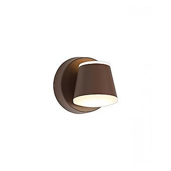 Flora Wall Lamp, 2 X 6w Led, 3000k, 590lm, Ip54, Dark Brown, 3yrs Warranty