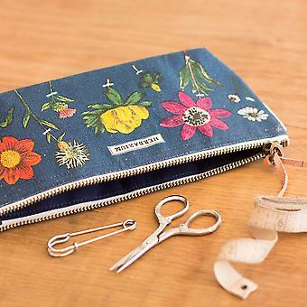 Cavallini Mini Pouch Herbarium - Cotton Pencil Storage Case