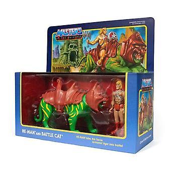 Super7 He-Man & Battlecat Masters of the Universe ReAction Figure 2-Pack