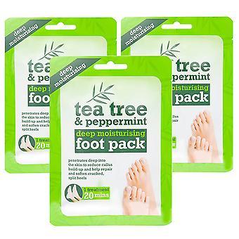 Diepe hydraterende voetbehandelingslaarzen, TeaTree