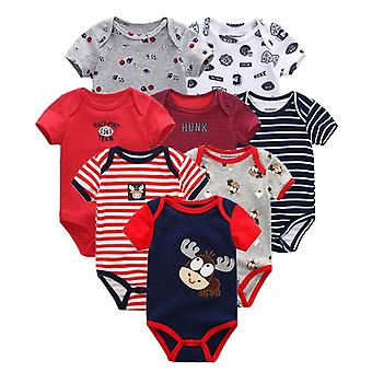 Short Sleeve Rompers - Newborn Baby Jumpsuit & Clothing (set-1)