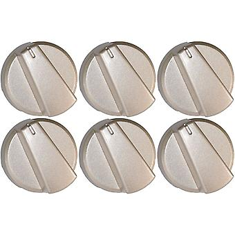 Belling Compatible Silver Oven Cooker Hob Control Knob Pack of 6