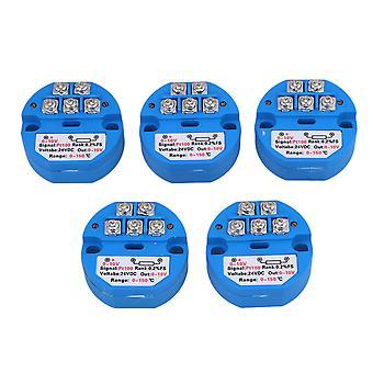 0-150 Gradi Uscita DC24V 0-10V PT100 Pacchetto sensore trasmettitore di temperatura di 5