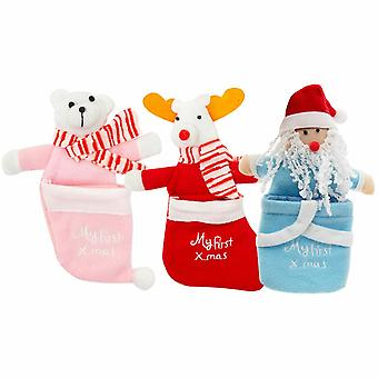 Set of 3 - Baby's 1st Christmas Stocking 3 Assorted Sets