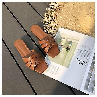 Sommer lysbilder åpen tå flat casual sko fritid sandal kvinnelig strand flip flops