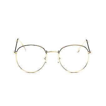 Runde Gläser Rahmen Frau Männer Retro Myopie optische klare Linse Brillen