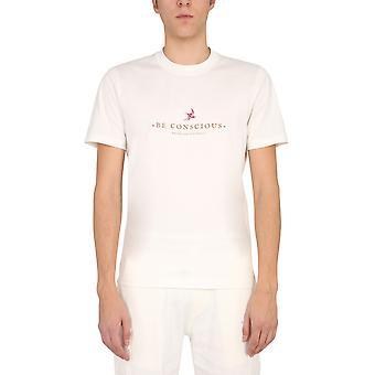 Brunello Cucinelli M0t617127ct495 Hombres's camiseta de algodón blanco