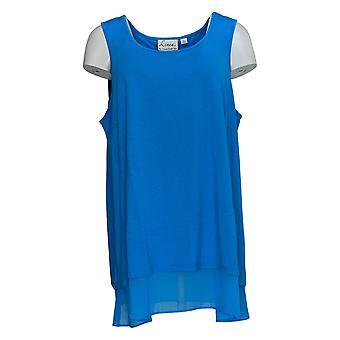 Linea de Louis Dell'Olio Women's Plus Top Mixed Media Swing Blue A306341