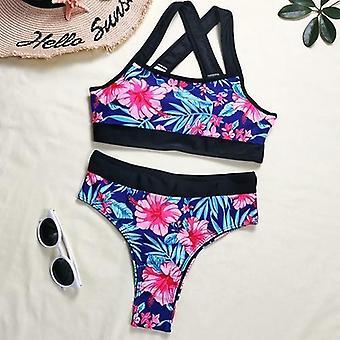 ملابس السباحة طباعة الأزهار