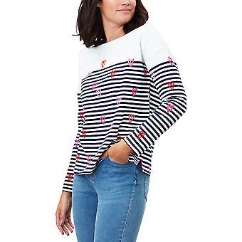 Joules Womens Marina Print Drop Shoulder Jersey Cotton Top