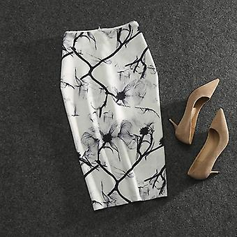Printed Fashion, High Waist, Elasticity Slim Pencil Skirts