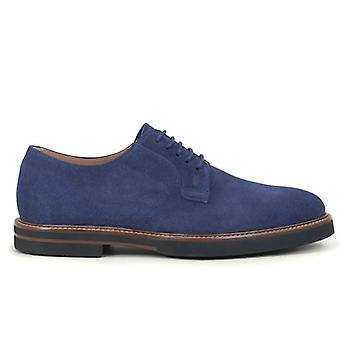 Stringed Derby Tod&s Blue In Soft Suede
