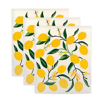 Dii Limone Svedese Dishcloth (Set Di 4)