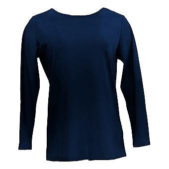 BROOKE SHIELDS Timeless Women's Top (XXS) Long Sleeve Knit Blue A341965