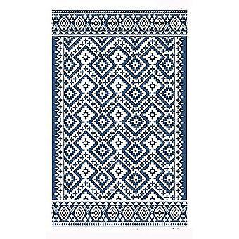 Spura Home 8x10 Oriental Blue Printed Hand Made Southwestern Area Rug Carpet