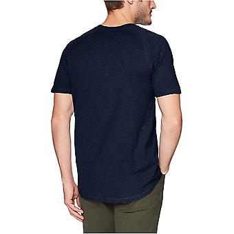 Goodthreads Men's Corto-sleeve Leggero Slub Henley, ruggine, Medio