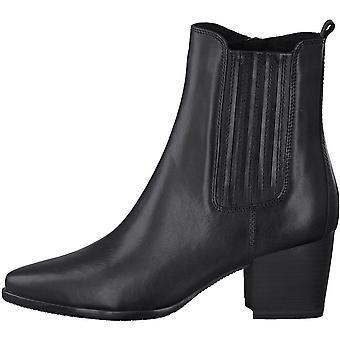 Booties Middle Heels Negro Antic