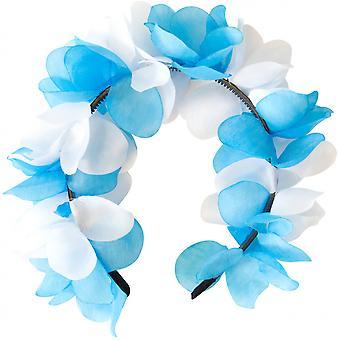 Tiara Flowers Ladies Blue / White One-Size