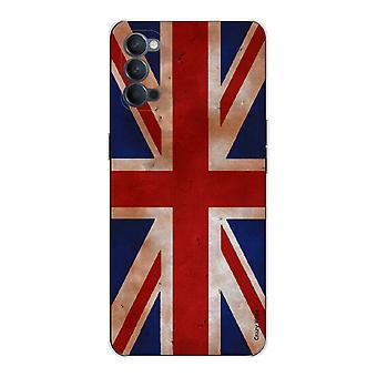 Schale für Oppo Reno4 5g Weich Silikon 1 Mm, Vintage Uk Flagge