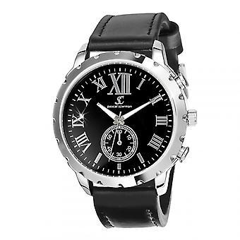 Así que el encanto MH299-NFN relojes de los hombres - pulsera de cuero negro