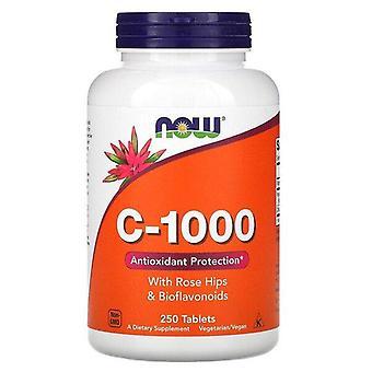 Now Foods, C-1000, Con rosas y bioflavonoides, 250 tabletas