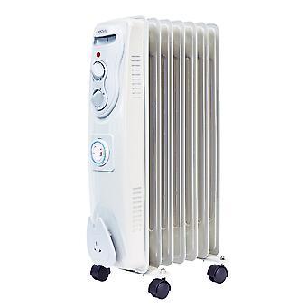 Olajjal töltött radiátor dugó hordozható elektromos fűtés biztonsági levágta 24 órás időzítő dugó hordozható elektromos fűtőberendezés 24 órás időzítő