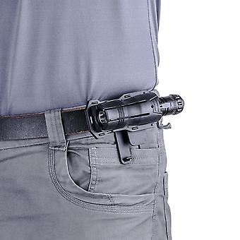 Tactical Flashlight Holster, Angle 360 Degree Rotatable Duable Holder