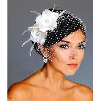 Voile birdcage de mariage, chapeaux de mariée