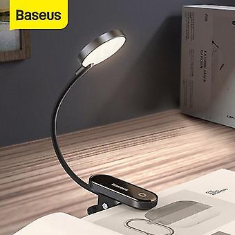 Baseus kannettava pidike kevyt lamppu lukeminen valo 3 kirkkaustasot silmäsuoja pöytävuode hea