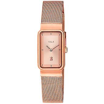 Tous watches squared mesh watch for Women Analog Quartz with stainless steel bracelet 800350885